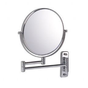 Bathroom Origins Reversible 7x Magnifying Chrome Plated Extending Shaving Mirror 054904